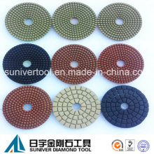 Colorful Series Standard Diamond Wet Use Polishing Pads