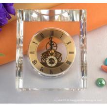 Nouvelle arrivée en forme de coeur en forme de faveur de mariage cristal horloge