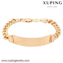 Braceletes de bronze da forma da joia 74623-Xuping com o ouro 18K chapeado