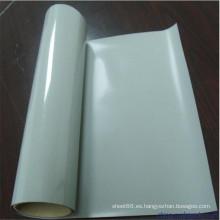 Hoja de goma de silicona de color blanco transparente de alta temperatura