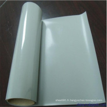 Feuille en caoutchouc de silicone de couleur blanche transparente à hautes températures