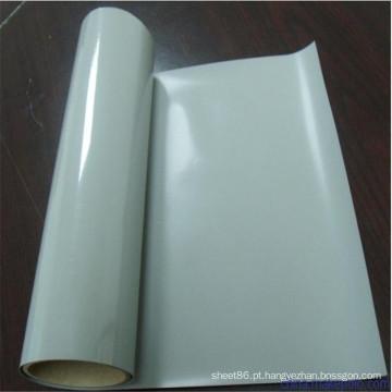 Folha de borracha de silicone de cor branca transparente de alta temperatura