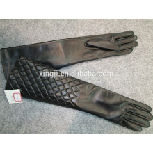 top quality woment finger gloves long sheepskin leather gloves