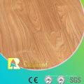 Piso laminado acanalado haya encerado haya comercial del espejo de 12.3mm E1