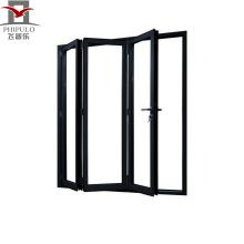 Preço barato de design moderno porta de correr de alumínio, porta de vidro deslizante, porta dobrável