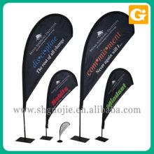 Bandera de encargo del arco de la vela del viento de la publicidad del cuchillo con los polos