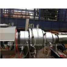 Cadena de producción de la protuberancia del tubo del PE plástico del diámetro grande de 20-630m m