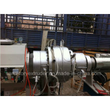 Linha de produção plástica da extrusão da tubulação do PE do grande diâmetro de 20-630mm