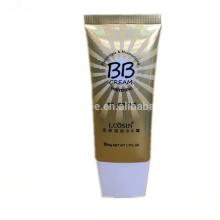 BB crème en aluminium en plastique super ovale cosmétique tube emballage