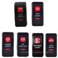 Bar Zombie Rot Farbe Wippschalter Dual LED Light Auto / Boot / LKW Wippschalter
