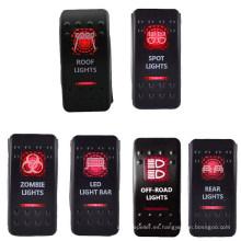 Interruptor del eje de balancín del color rojo de la barra Zombie Interruptor del eje de balancín dual del coche LED / del barco / del camión