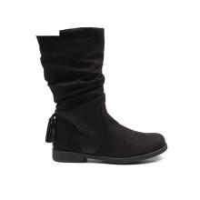 2018 school safety children girls long black shoes for kids
