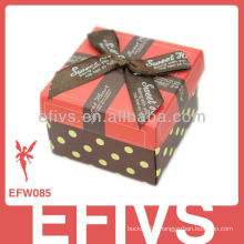 2013 Decorated Red Bow-Tie Wedding Favor Box made in China