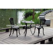 Bistro conjunto de mesa de café de aluminio