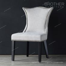 Chaise en bois rembourrée de tissu d'échantillon de cadre de bois de Soild