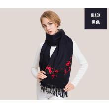 xale de lenço bordado cachemira mongol puro