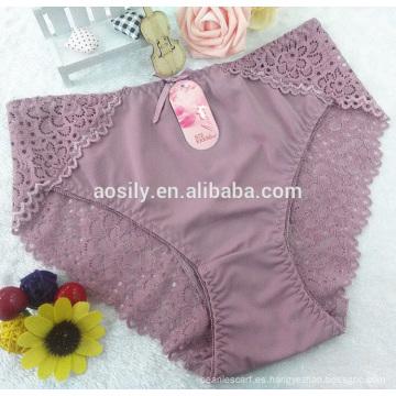 AS-A572 chinlon lace bikini panty nueva moda panty slip ropa interior de tamaño libre