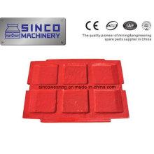 Plaque de mâchoire Metso de pièces de broyeur de haute qualité
