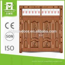As portas de aço clássicas projetam a porta de imitação dianteira da casa de campo do cobre