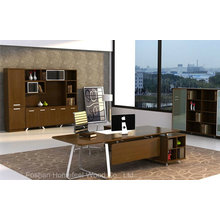 Fashion Style Modern Design Walnut Veneered Manager Desk (HF-WD022)