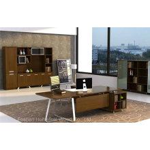 Escritório de mesa folheada de nogueira de design moderno de estilo moderno (HF-WD022)