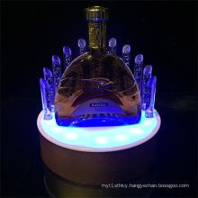 LED Illuminated Acrylic Wine Bottle Rack Display Stand for Bar