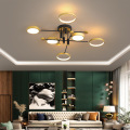 Flush Black Ceiling Lamp