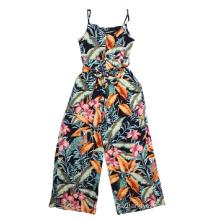 Ladies viscose print overalls