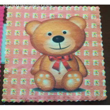 Microfiber Handkerchief Cartoon Printing Square Handduk