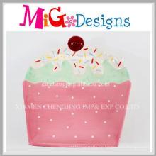 Neue Design handgemachte Keramik Kuchen geformte Teller und Teller