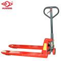 Hydraulic hand truck adjustable straddle pallet stacker