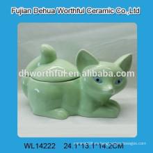 Frasco de almacenamiento de cerámica del diseño del zorro de la manera