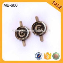 MB600 Etiqueta / etiqueta de la insignia del metal de la carpeta de encargo para los bolsos Etiquetas de la ropa Accesorios del bolso