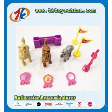 Brinquedos engraçados do jogo de corridas de cavalos de plástico para venda