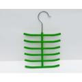 ABS plastic velvet flock tie hanger