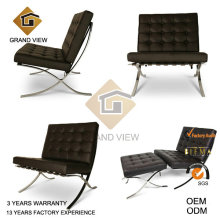 Dark Brown Genuine Leather Office Chair (GV-BC01)