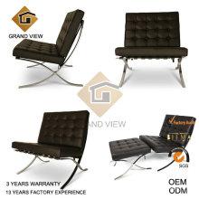 Cadeira de escritório de cabedal castanho escuro (GV-BC01)