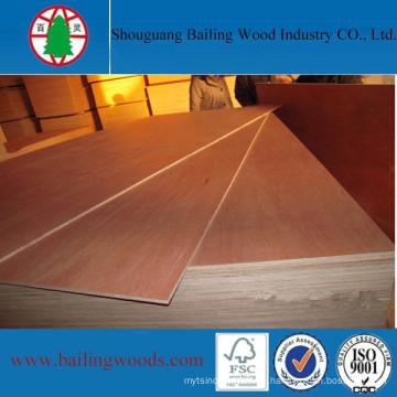 Precio de fábrica al por mayor de madera contrachapada comercial