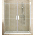 Alcove Installation Large Stainless Steel Wheel Shower Door