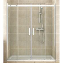 Instalación de alcoba Puerta de ducha de acero inoxidable grande