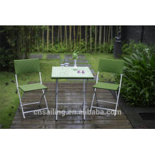 Luxury Durable Easy Cleaning chaises pliantes en plein air meubles en osier
