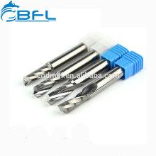 Fraises en bout en aluminium à simple cannelure BFL- pour carbure monobloc pour Dibond