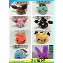 Hot Sell Plush Pokemon Keychain para o presente de Natal
