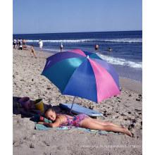 Parapluie de plage A17 extérieur portable anti UV soleil