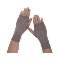 PK18A19HX Frauen Cashmere Kint Halb fingerlose Handschuhe Loch Handschuhe