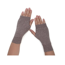 PK18A19HX Women's Cashmere Kint Half Fingerless Gloves Hole Gloves