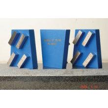Outils de meulage de cales / diamants avec 4 segments carrés
