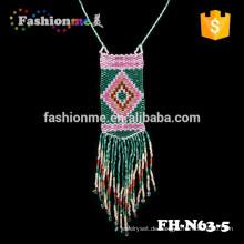 handgefertigte Pandant Halskette lang böhmische Halskette