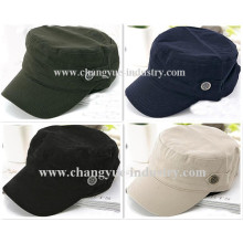 wholesale promotion blank cotton military cap hat