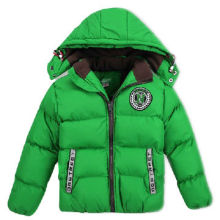 Boy's padding jacket, made of 100% nylon with acrylic coating, with embroidery at chest